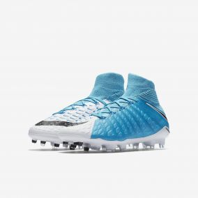 Детские бутсы NIKE HYPERVENOM PHANTOM 3 DF FG 882087-104 JR
